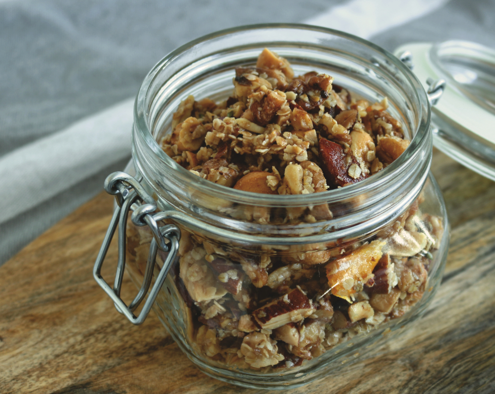 Orange-Lavendel-Granola